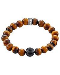Thomas Sabo - Multicolor Rebel At Heart Beaded Tiger Eye Bracelet for Men - Lyst