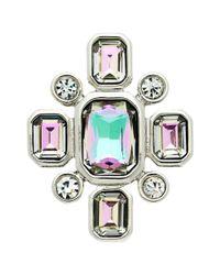 Monet - Multicolor Vitrail Glass Crystal Brooch - Lyst