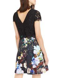 John Lewis - Black Oasis 2 In 1 Digital Floral Dress - Lyst