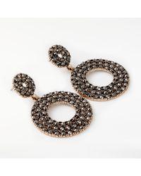 John Lewis - Metallic Sparkle Circle Drop Earrings - Lyst