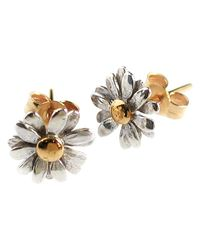 Alex Monroe | Metallic Classic Daisy Stud Earrings | Lyst