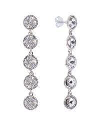 Ted Baker - Metallic Rizza Drop Crystal Earrings - Lyst