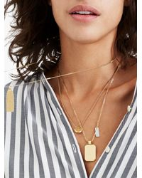 Madewell - Metallic Treasure Pendant Necklace Set - Lyst