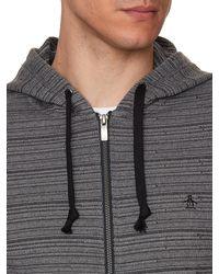 Original Penguin - Gray Space Dye Heavyweight Hoodie for Men - Lyst