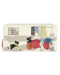 Radley - Multicolor Road Leather Picture Matinee Purse - Lyst