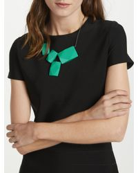 One Button - Multicolor Rectangular Resin Bead Necklace - Lyst