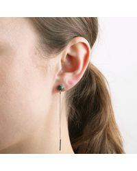 Dyrberg/Kern - Multicolor Madlyn Cabochon Cut Gemstone Chain Drop Earrings - Lyst