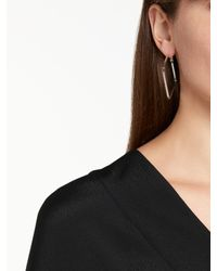 John Lewis - Metallic Square Hoop Earrings - Lyst