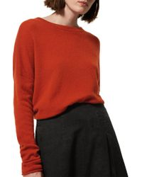 Toast - Red Boxy Wool Cashmere Jumper - Lyst