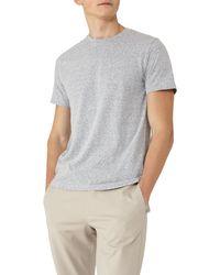 Reiss - Blue Sonar Mottled Weave T-shirt for Men - Lyst