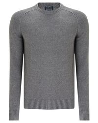 John Lewis - Gray Saddle Knit Linen Cotton Jumper for Men - Lyst