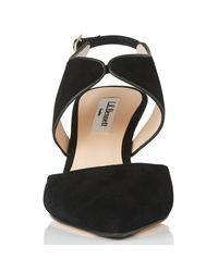 L.K.Bennett - Black Cecily Two Part Court Shoes - Lyst