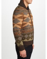 John Lewis - Multicolor Aztec Knit Full Zip Cardigan for Men - Lyst