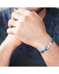 Merci Maman - Blue Men's Personalised Sterling Silver Anchor Charm Bracelet for Men - Lyst