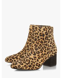 Dune - Brown Olyvea Block Heeled Ankle Boots - Lyst