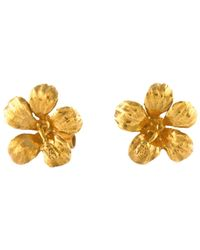 Alex Monroe - Metallic Single Flower Stud Earrings - Lyst