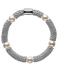 Links of London - Metallic Effervescence Star White Pearl Bracelet - Lyst