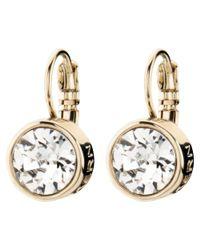 Dyrberg/Kern Metallic Louise Crystal French Hook Drop Earrings