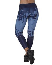 Asics - Blue 7/8 Running Leggings - Lyst