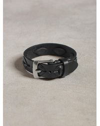 John Varvatos - Black Leather Cuff With Laced Detail for Men - Lyst