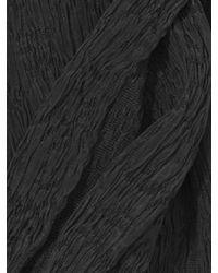John Varvatos - Black Crinkled Washed Silk Scarf for Men - Lyst