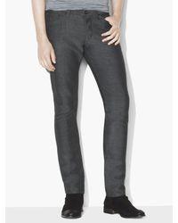 John Varvatos - Gray Linen Blend Chelsea Jean for Men - Lyst