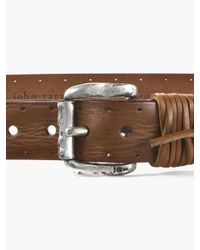 John Varvatos - Multicolor Wrapped & Perforated Leather Belt for Men - Lyst