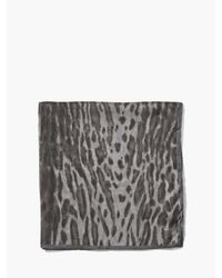 John Varvatos - Gray Crinkled Leopard Printed Light Weight Bandana for Men - Lyst