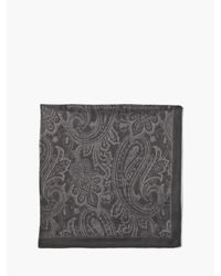 John Varvatos - Black Woven Crinkled Paisley Bandana for Men - Lyst