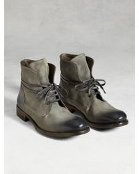 John Varvatos | Gray Rivington Wire Lace Boot for Men | Lyst