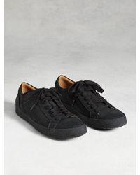 John Varvatos   Black Mick Crepe Low Top Sneaker for Men   Lyst