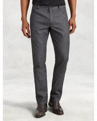 John Varvatos | Gray Woodward Lightweight Cotton Jean for Men | Lyst