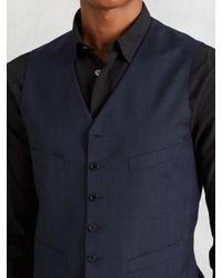 John Varvatos - Blue Wool Tailored Vest for Men - Lyst