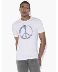 John Varvatos | White Peace Symbol Graphic Tee for Men | Lyst
