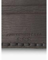 John Varvatos - Brown Braided Edge Card Case for Men - Lyst
