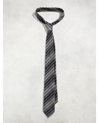 John Varvatos - Black Contrast Stripe Skinny Tie for Men - Lyst