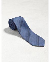 John Varvatos - Blue Classic Contrast Stripe Tie for Men - Lyst