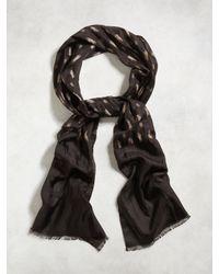John Varvatos   Black Vintage Silk Print Scarf for Men   Lyst