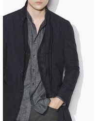 John Varvatos - Blue Lightweight Water Repellent Coat for Men - Lyst