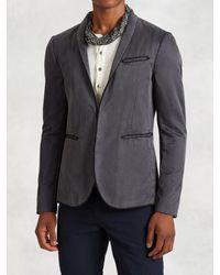 John Varvatos - Blue Hook & Bar Jacket for Men - Lyst