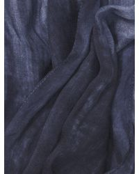 John Varvatos - Blue Crinkle Printed Scarf for Men - Lyst