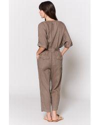 Joie - Brown Frodina Linen Jumpsuit - Lyst