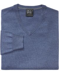 Jos. A. Bank - Blue Traveler Collection Merino Wool V-neck Sweater- Big & Tall for Men - Lyst