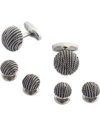 Jos. A. Bank | Metallic Jos.a.bank Antiqued Silver Cufflink & Studs Set Clearance for Men | Lyst