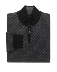 Jos. A. Bank - Black Signature Collection Merino Wool Birdseye Quarter-zip Sweater for Men - Lyst