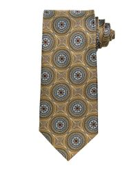 Jos. A. Bank - Metallic Signature Gold Large Circles Tie for Men - Lyst