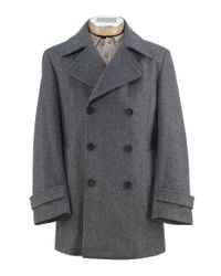 Jos. A. Bank - Gray Executive Collection Traditional Fit Double-breasted Peacoat - Big & Tall Clearance for Men - Lyst