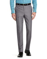 Jos. A. Bank - Gray Signature Collection Tailored Fit Flat Front Herringbone Dress Pant Clearance for Men - Lyst