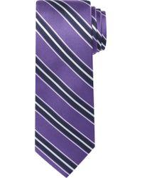 Jos. A. Bank - Purple Traveler Collection Triple Stripe Tie for Men - Lyst