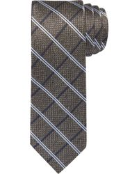 Jos. A. Bank - Gray Reserve Collection Windowpane Plaid Tie for Men - Lyst